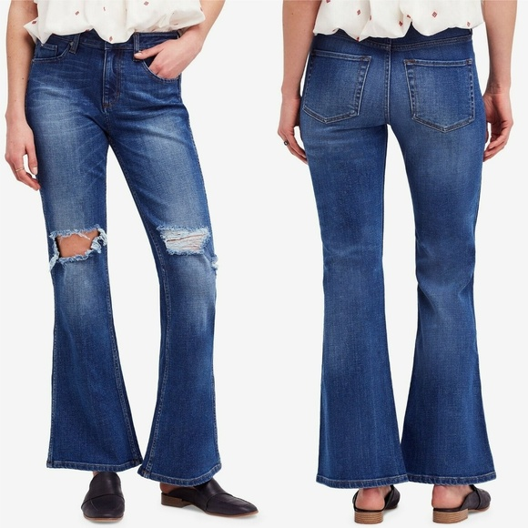 Free People Denim - Free People Jeans Authentic Flare Destroyed Jeans